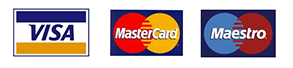 Mastercard, Visa, Maestro and Solo card logos