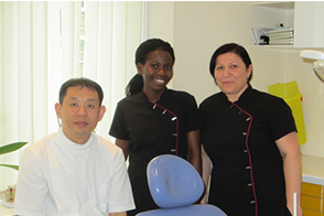 Dr Fang with dental nurses